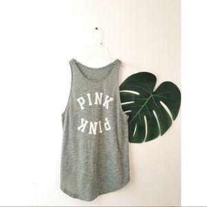 PINK Victoria's Secret Tops - 5/$35💓VS Pink logo tank top razor back